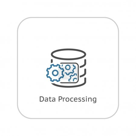 Data Processing Icon. Flat Design.