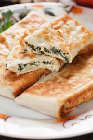 Borek with chard and cheese filling