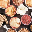 Salty crackers, tortilla chips and other savoury s...