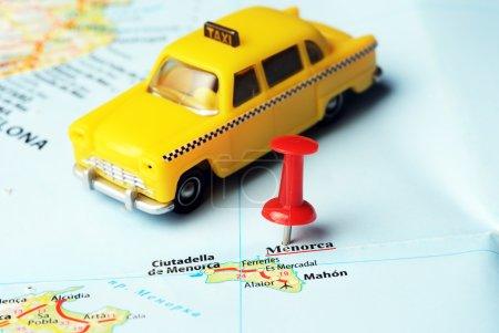 Menorca Island ,Spain map taxi