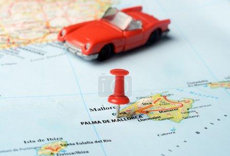 Palma de  mallorca   ,Spain map cabrio