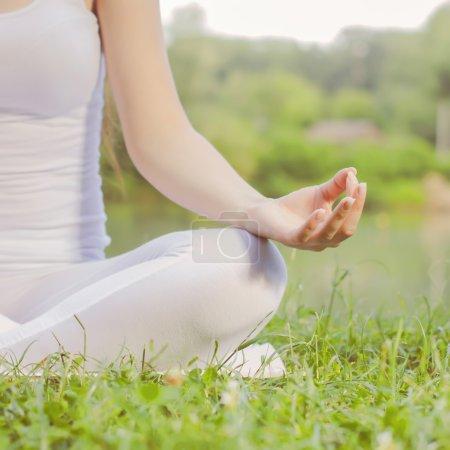 Yoga Woman Meditating Relaxing Healthy Lifestyle
