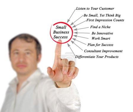 Photo pour Diagramme de la réussite des petites entreprises - image libre de droit