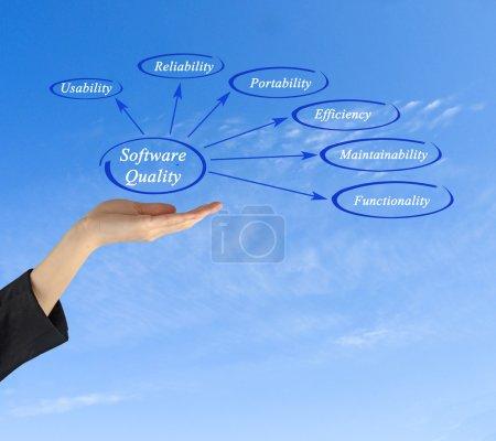 Photo pour Diagramme de la qualité du logiciel - image libre de droit