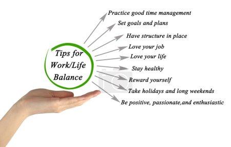 Photo pour Conseils pour l'équilibre de la vie de travail - image libre de droit