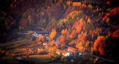 """Постер, картина, фотообои """"Осень в небольшом городке краска"""""""