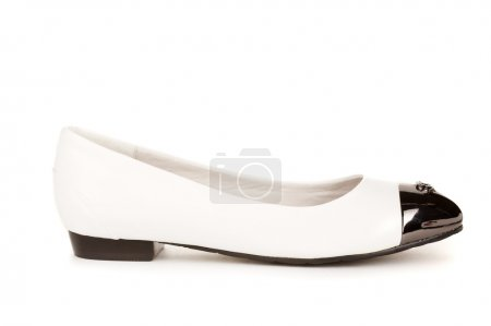 Photo for Beautiful woman boots with high heels on white background - Royalty Free Image