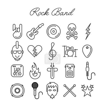 Rock Band Icon Set