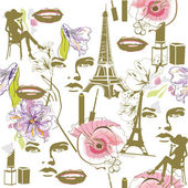 Fashion background with faces