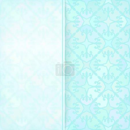 Illustration for Template for design, Transparent white banner on square ornamental background - Royalty Free Image