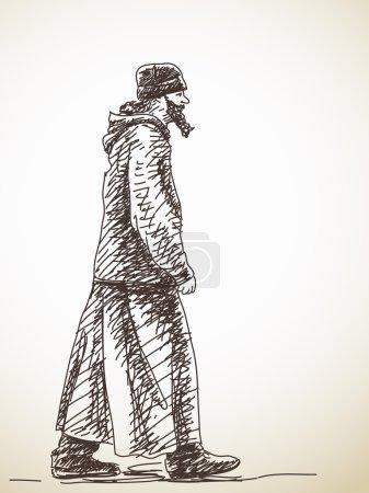 walking orthodox priest