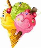 Ice Cream Vector illustration on white background