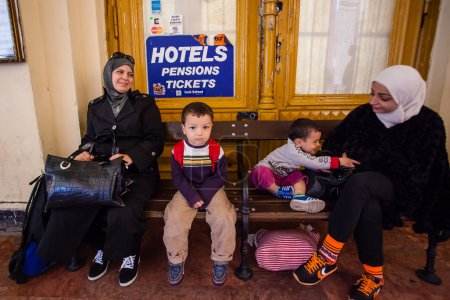 War refugees at the Keleti