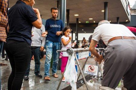 War refugees at the Keleti Railway Station