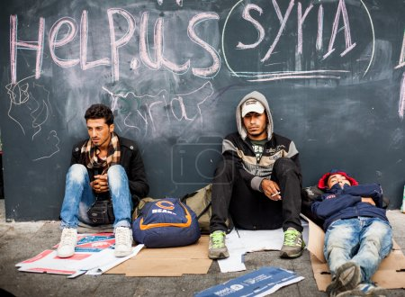 War refugees at the Keleti