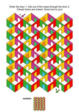 Rooms and doors colorful maze game 4 x 6