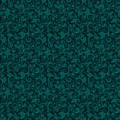Seamless (you see 9 tiles) floral pattern background (wallpaper texture tile swatch print) of green blue or dark turquoise trendy winter holidays Christmas colors
