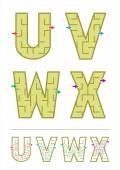 Alphabet maze games U V W X