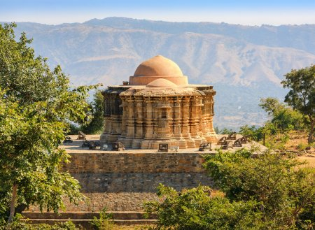 Photo for Jain Temple in the Kumbhalgarh fort, Rajasthan, India, Asia - Royalty Free Image