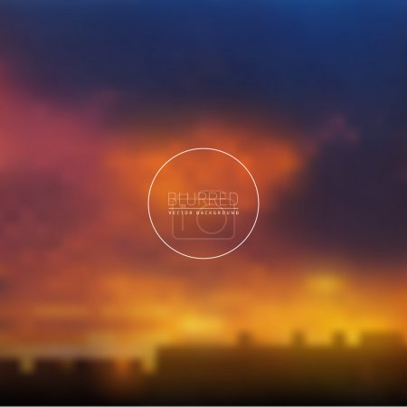 Abstract blurred background, vector