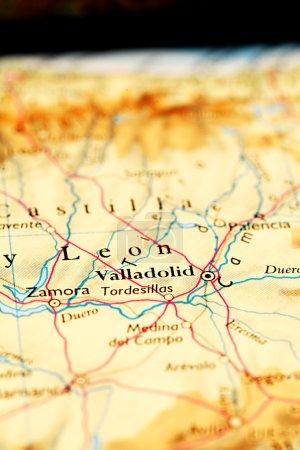 Valladolid city on map