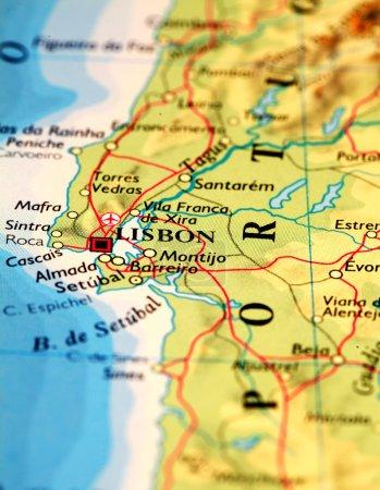 Lisbonne sur la carte