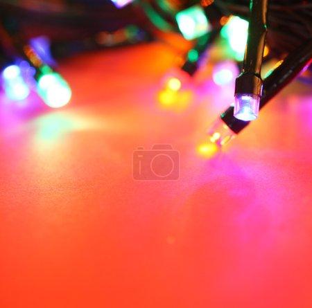 Photo pour Gros plan des ampoules LED clignotantes - image libre de droit