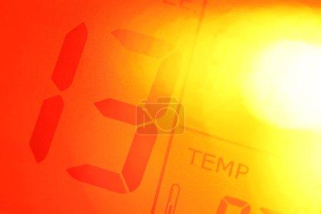 Close up of a Digital timer clock...