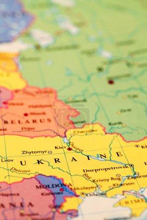 Ukraine sur la carte