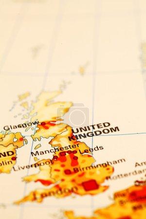 England Auf der Karte