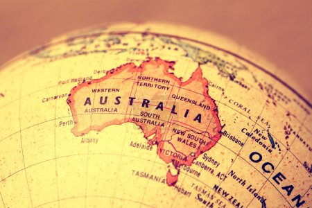 Australia on map