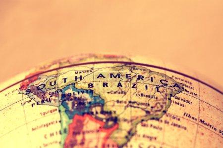 Südamerika Auf der Karte