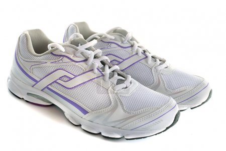 Photo for Trainers shoes in front of white background - Royalty Free Image
