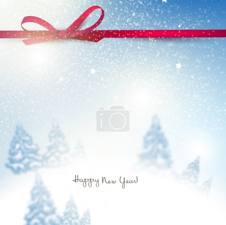 Beautiful Christmas background with trees