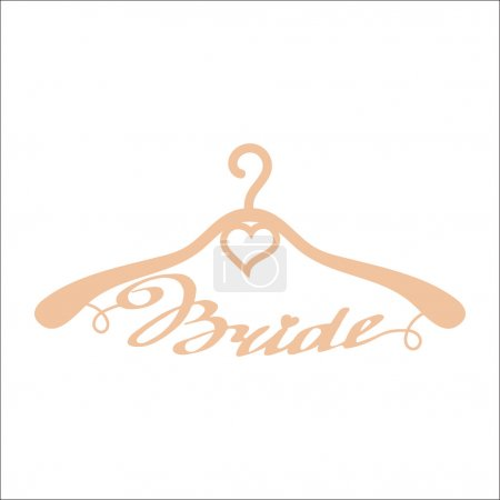 Beige wedding hangers for bride