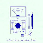 Icon of electrical measuring instrument Vector illustration