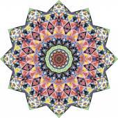 Triangular ornamental round lace