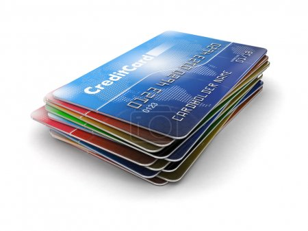 Photo for Credit Cards. Image with clipping path - Royalty Free Image