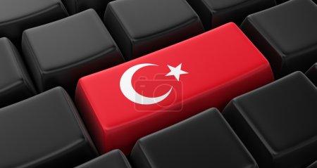 Key with Turkish Flag