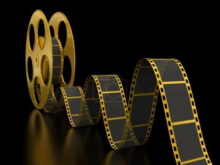 Bande de Film or sur fond noir