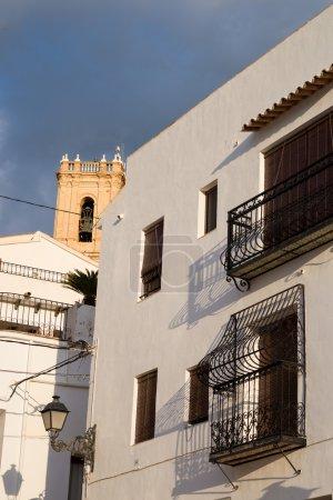 Whitewashed facades of Altea