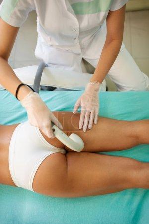 anti-cellulite treatment on buttocks