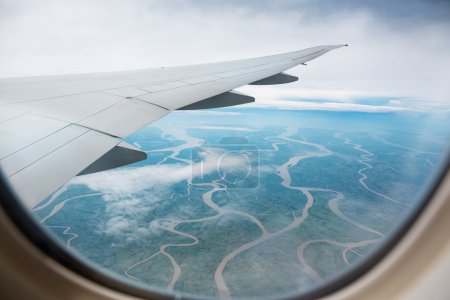 Photo for Sky view from airplane window - Royalty Free Image