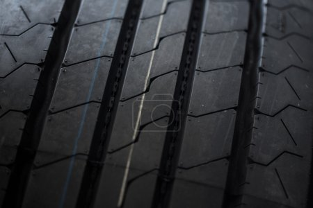 Photo for Black summer tires close up - Royalty Free Image