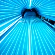 Solarium tanning bed, view from inside...