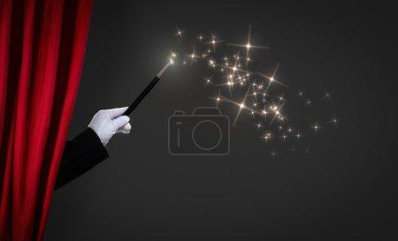 Photo pour Baguette magique sur scène - image libre de droit
