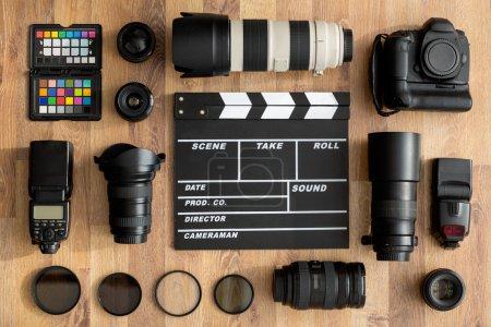Foto de Vida profesional de las cámaras y parte superior de la lente de cámara - Imagen libre de derechos