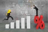 Podnikatel, křičí na procento označit další účetní si eura