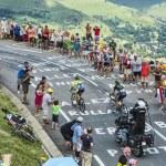 Col de Peyresourde,France- July 23, 2014: The cycl...