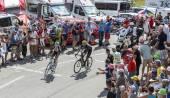 Two Cyclists on Col du Glandon - Tour de France 2015